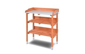 giantex outdoor garden wooden potting bench