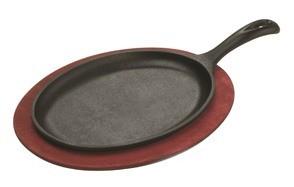 lodge lfsr3 cast iron pre seasoned fajita pan