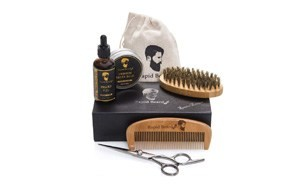 luxury beard grooming and trimming kit for men