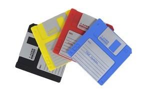 nineties nerd retro floppy disk non-slip silicone drink coaster set