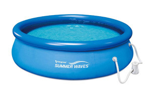 summer waves 10ft x 30in quick set inflatable pool