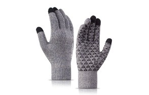 trendoux knit touch screen anti slip winter gloves