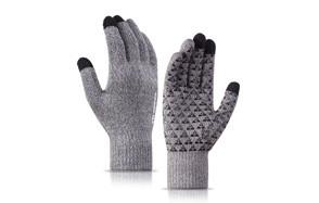 trendoux knit touch screen anti slip winter gloves