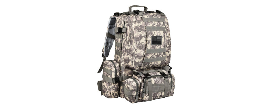 CVLIFE Outdoor 60L Built-up Military Tactical Backpack