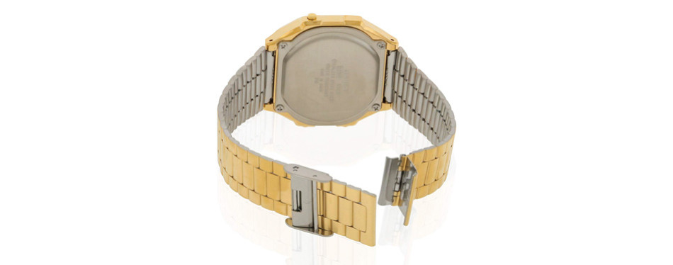 Casio A168WG-9 Men's Vintage Gold Chronograph Alarm Watch