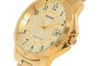 Casio #MTP-V004G-9B Men's Standard Gold Tone Watch