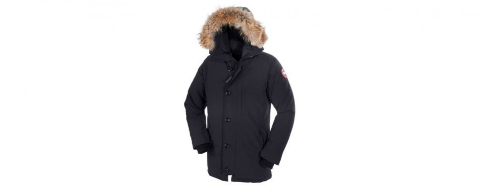 Chateau' Slim Fit Genuine Coyote Fur Trim Jacket