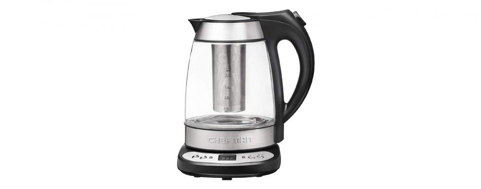 Chefman Electric Glass Digital Kettle w/ Free Infuser