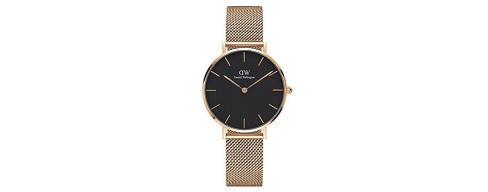 d8f2ec8882870 Classic Petite Melrose in Black 32mm (Daniel Wellington Watch)