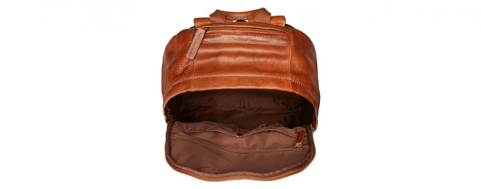 Cognac Leather Backpack by Fossil