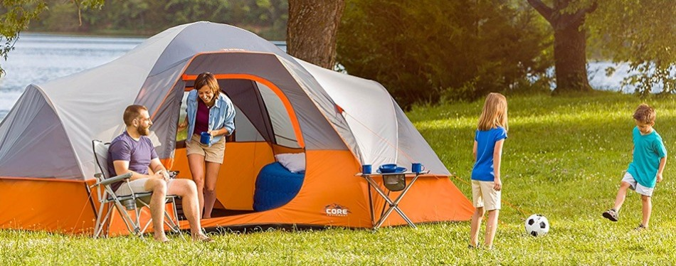 Core 9 Person Extended Dome Large Camping Tent