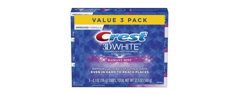 Dentifrice blanchissant Crest 3D White