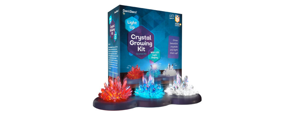 Dan&Darci Light-up Crystal Growing Kit for Kids