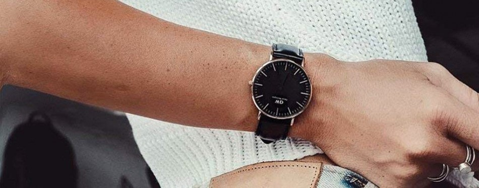 Daniel Wellington Classic Black Sheffield Minimalist Watch
