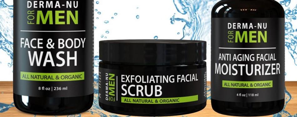 Derm-Nu Anti-Aging Daily Skincare Set for Men