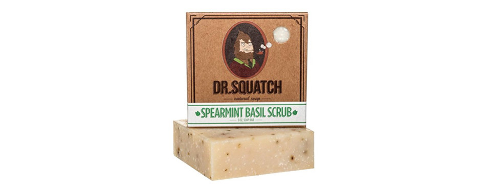 Dr. Squatch Spearmint Basil Natural Soap for Men