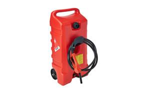DuraMax Flo n' Go LE Fluid Transfer Pump 14-Gallon Rolling Gas Can