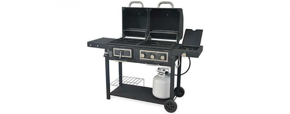 3-burner charcoal gas grill combo, by backyard grill