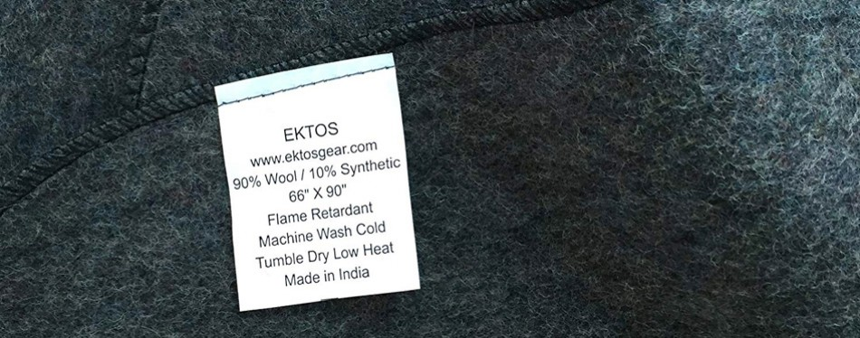 EKTOS 90% Wool Camping Blanket