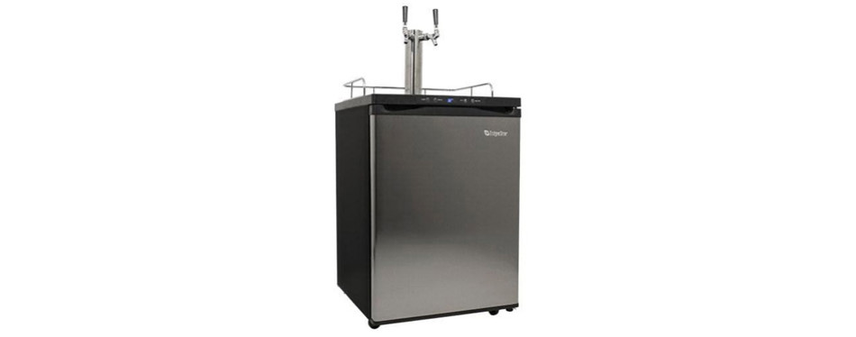 EdgeStar Full-Sized Black Stainless Steel Kegerator