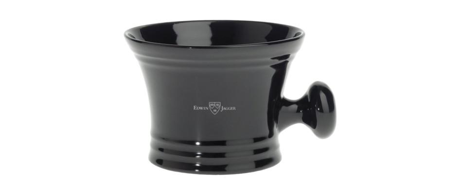Edwin Jagger Porcelain Shaving Soap Bowl With Handle