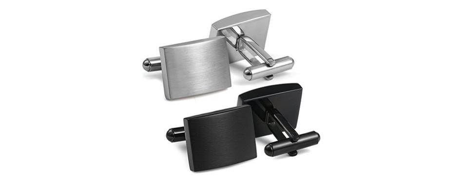 FIBO STEEL Stainless Steel Classic Men's Cufflinks