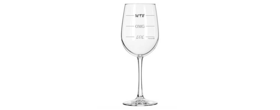 Fineware LOL-OMG-WTF Funny Wine Glass