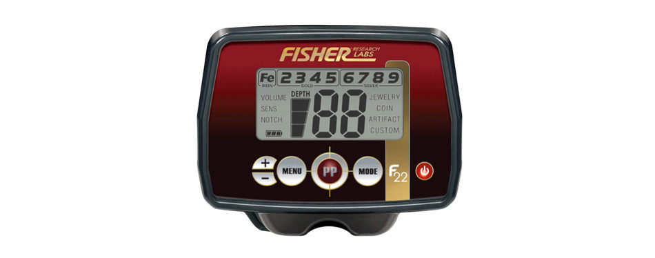 Fisher F22 Weatherproof Metal Detector