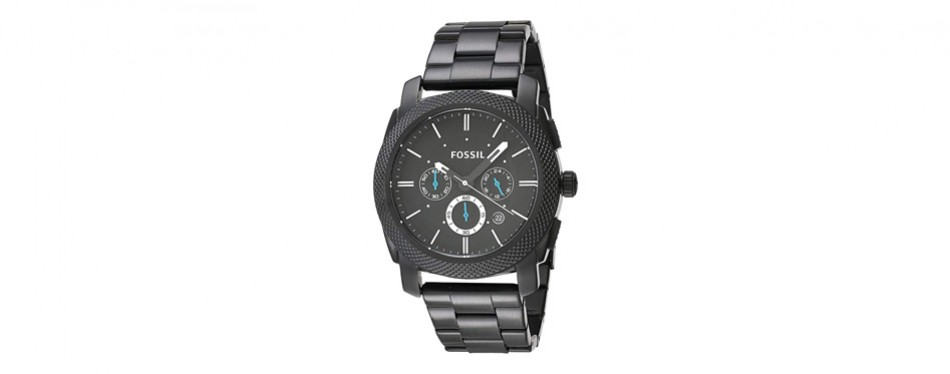 Fossil Machine Black Stainless Steel Chronograph