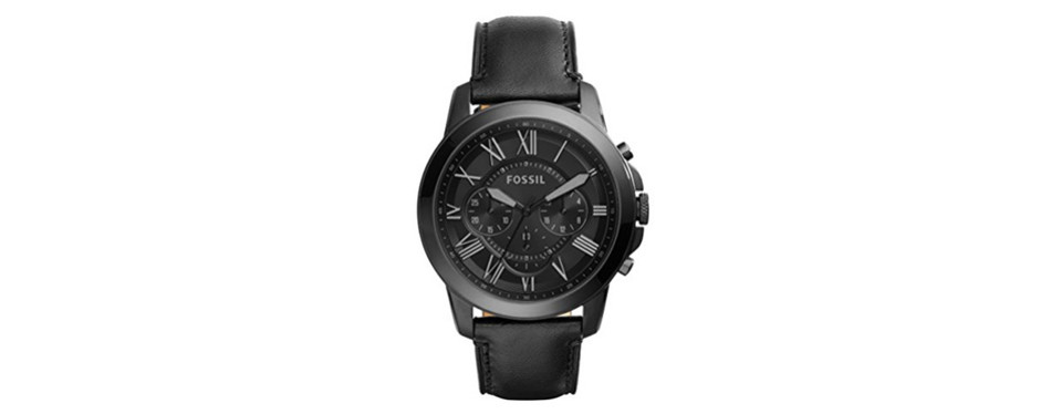 Fossil Men's Black Steel Chronograph