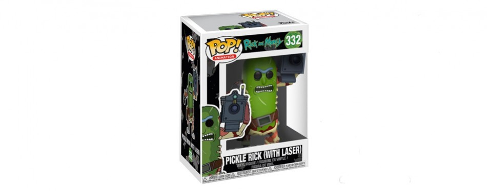 Funko Pop! Morty-Pickle Rick with Laser Collectible Figurine