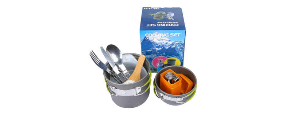 G4Free Outdoor 13 Piece Camping Cookware Kit