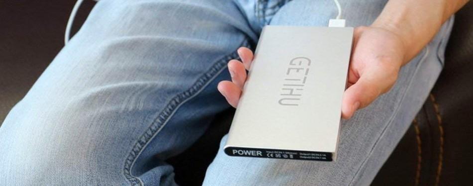 GETIHU 10000mAh Portable Power Bank