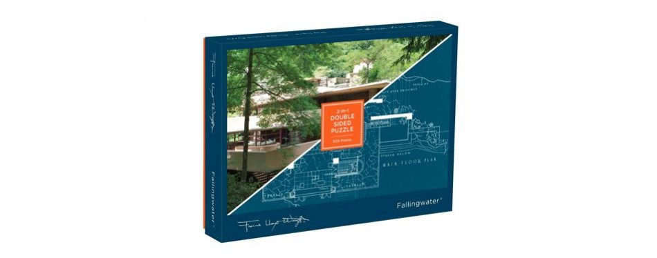 12. galison frank lloyd wright fallingwater 2-sided puzzle