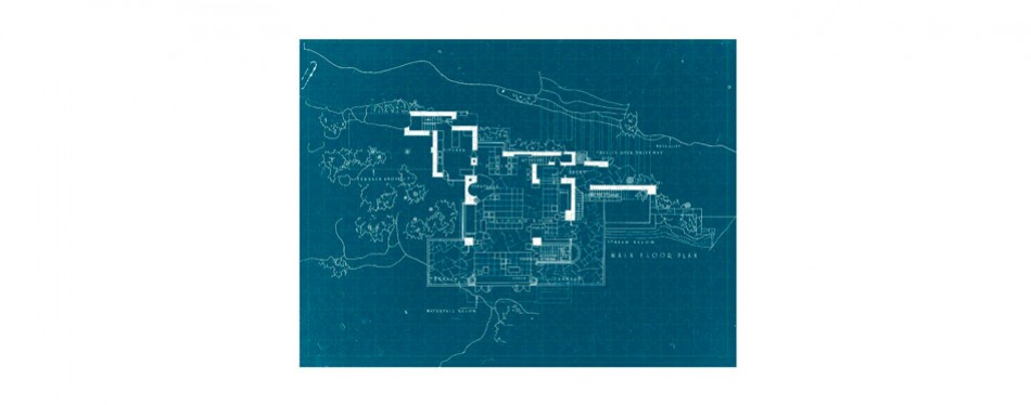 Galison Frank Lloyd Wright Fallingwater 2-Sided Puzzle