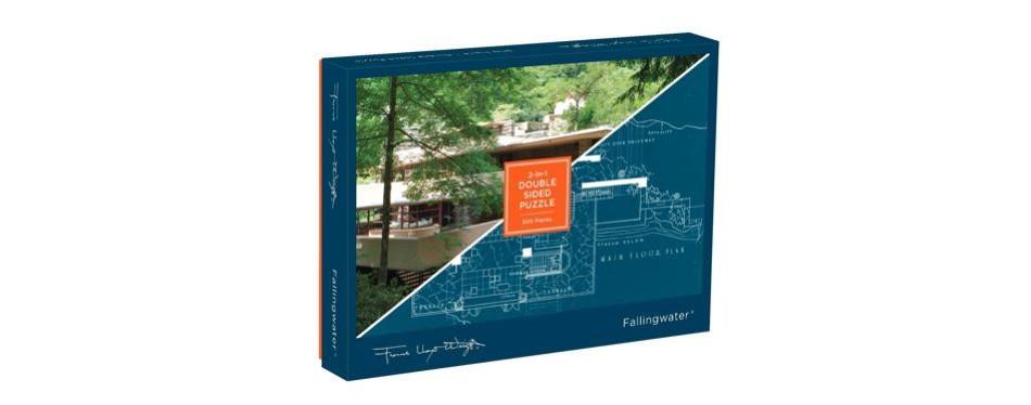 12. galison frank lloyd wright fallingwater 2-sided puzzle