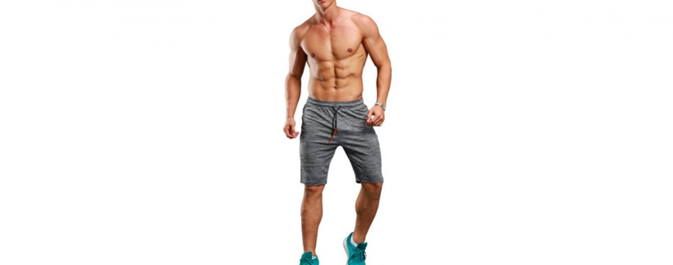 Gerlobal Men's Yoga Shorts Active Training Shorts