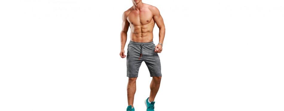 Gerlobal Men's Yoga Shorts Active Training Shorts