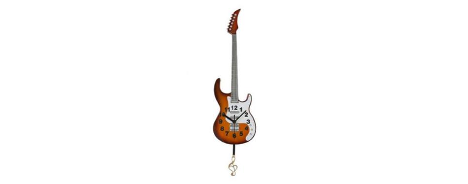 Giftgarden Vintage Pendulum Guitar Clock