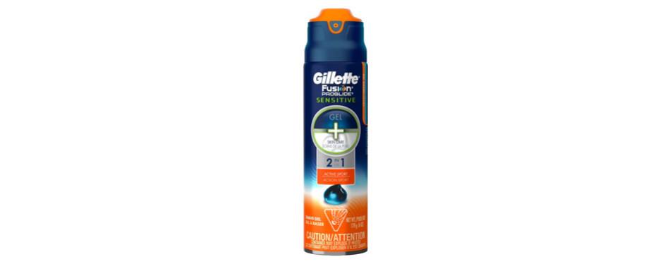 Gillette Fusion ProGlide Sensitive 2 in 1 Shave Gel