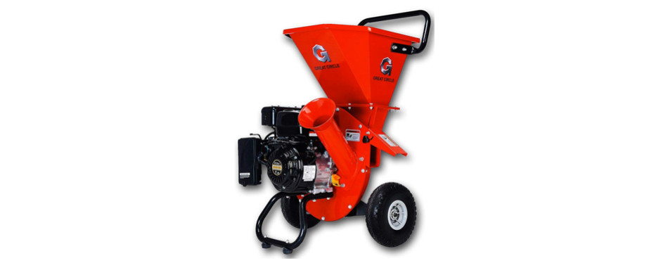 GreatCircleUSA 7HP Gas Powered Heavy Duty Leaf Shredder