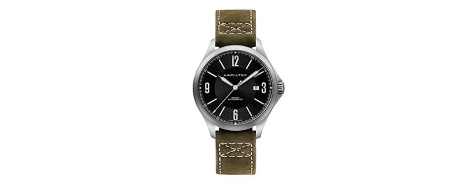Hamilton Aviation Olive Pilots's Watch