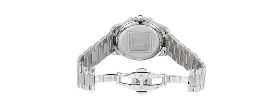 Hamilton Men's Jazzmaster Seaview Black Chronograph Dial Watch