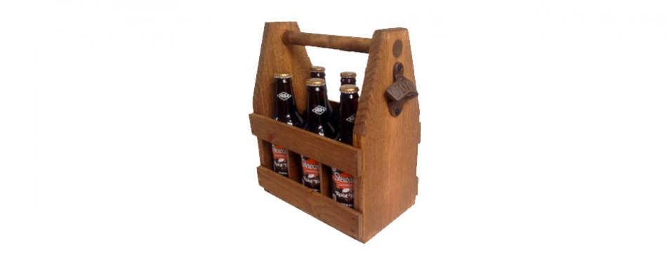 Handcrafted Wooden Beer Carrier