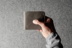 Hardgraft Cash Card Coin Wallet . Off Grey