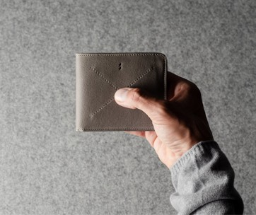 Hardgraft Cash Card Coin Wallet . Off Grey