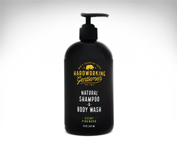 hardworking gentleman natural shampoo & body wash