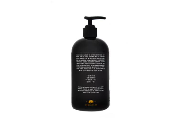 hardworking gentleman natural shampoo & body wash