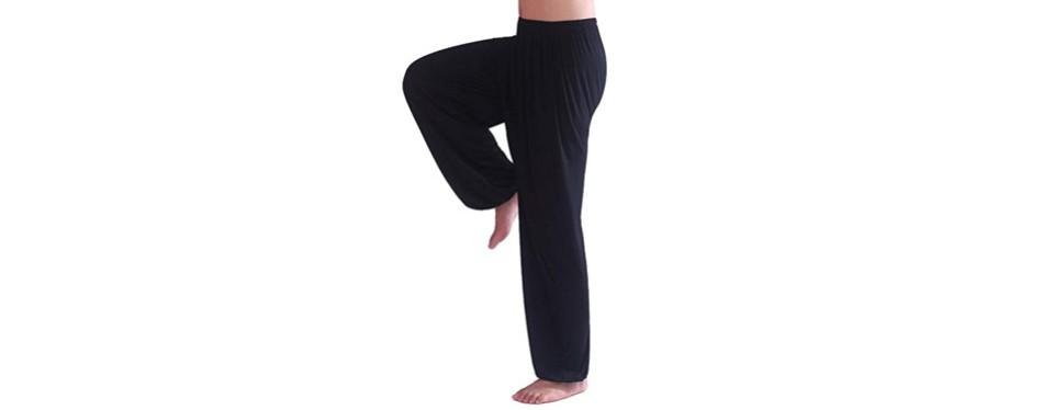 Hoarev Men's Super-Soft Modal Spandex Harem Yoga Pants