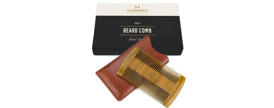 Hundred Beard Company Dual Action Beard Comb & Protective Sleeve
